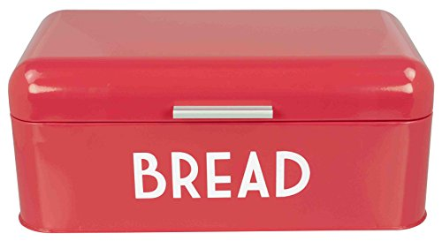 - Home Basics BB44455 Metal Bread Box with Lid