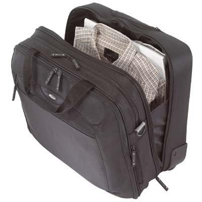 CityGear Rolling Travel Laptop Case, Nylon, 18 x 10 x 15, Black/Silver by Targus