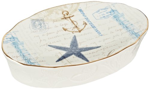 Avanti Linens Antigua Soap Dish, Multi