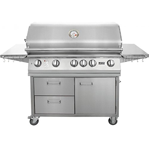 Lion 40 Inch Stainless Steel Propane Gas Grill On Cart For Sale