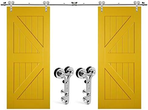 304cm/10FT kit de puerta corredera de acero inoxidable,Herrajes ...