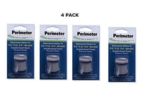 Invisible Fence Collar Battery - Brand Compatible - with Free eOutletDeals Value Bundle (4 Pack)