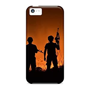 New Premium DQPIG5585QkXYG Case Cover For Iphone 5c/ Military Soldiers With Weapons Protective Case Cover by icecream design