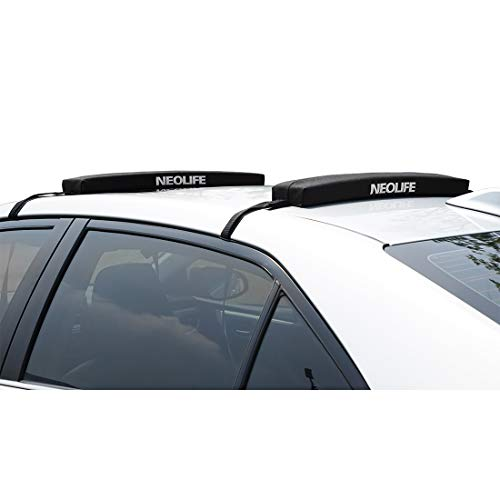 (Neolife Soft Roof Rack Pads Single Wrap-Rax Surfboard Longboard,Kayak Straps,19inch [Pair])