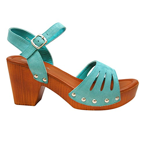aa505ea60b4 HerStyle Women s Manmade Karrey 3-inch Heeled Sandal with Silver Studs -  Buy Online in Oman.