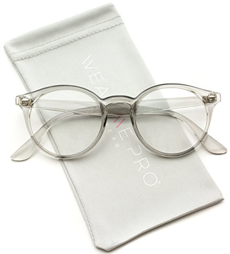 WearMe Pro - Clear Lens Semi Transparent Clear Frame Colorful - Glasses Buy Hipster