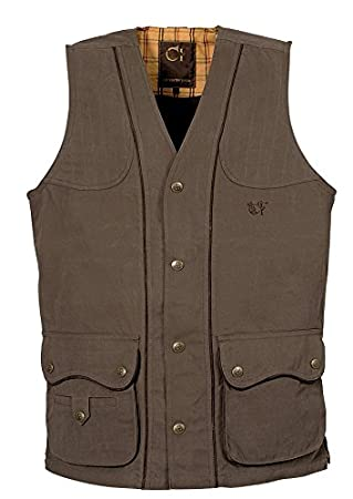 b572c06a04b Club Interchasse - Gilet De Chasse 100 % Coton Barney Club Interchasse -  Couleur   Marron