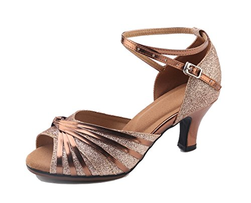 MGM-Joymod - Punta Abierta Mujer Brown /6cm Heel