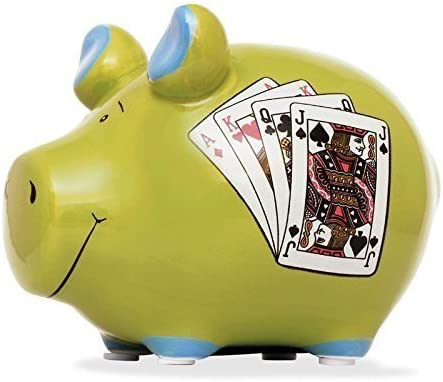 Hucha Caja registradora póquer Hucha Hucha cerámica Dinero regalo: Amazon.es: Hogar
