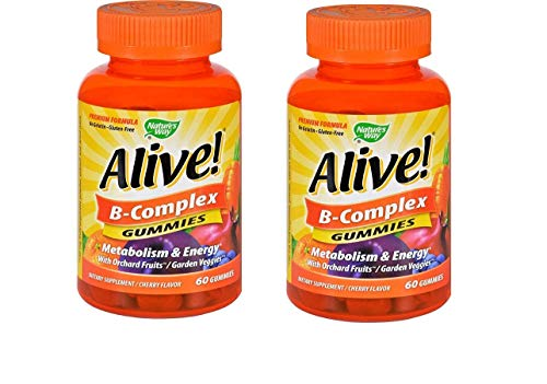 2Pack! Natures Way B-Complex - Alive - Gummies - 60 Count