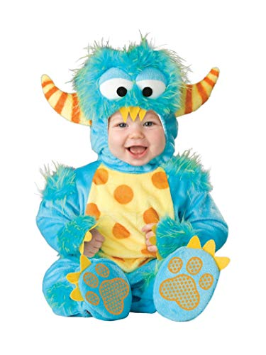InCharacter Unisex Baby Monster Costume, Blue/Yellow/Orange, Small -