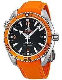 Seamaster Planet Ocean Automatic Black Dial Orange Rubber Mens Watch 23232422101001