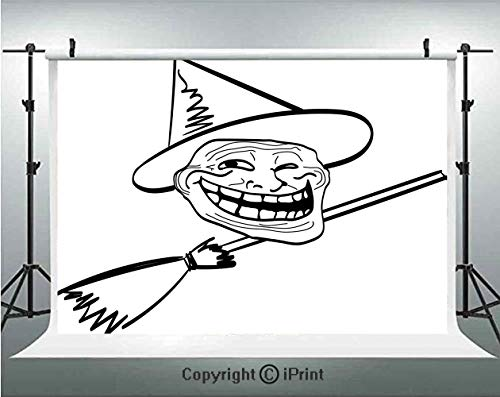 Humor Decor Photography Backdrops Halloween Spirit Themed Witch