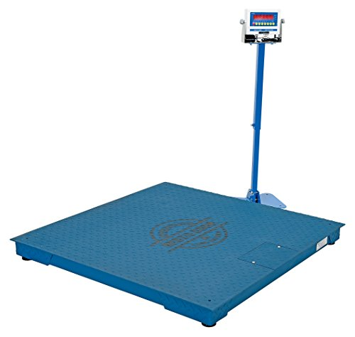 Vestil-SCALE-S-CFT-44-5K-Steel-Digital-Floor-Scale-Uniform-Capacity-5000-lb-NTEP-48-x-48-x-4-Painted-Blue