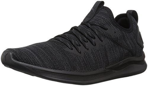 PUMA Men's Ignite Flash Evoknit Sneaker, Black, 11 M US