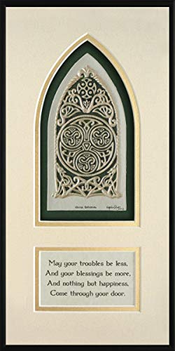 Celtic House Blessing - Cast Paper - Irish home blessing - Scottish - Celtic Knot Work - house warming gift - realtor closing gift