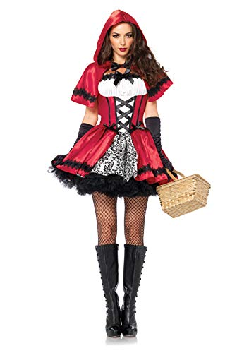 Leg Avenue Women's Gothic Red Riding Hood Costume, White, Small -