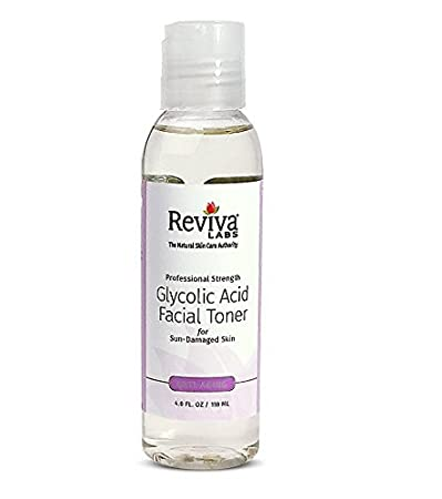 Reviva Labs, Glycolic Acid Facial Toner, 4 fl oz(pack of 2) Facial Cleansing Oil Age Defying By Trillium