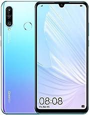 Huawei P30 Lite ny utgåva 256 GB mobil, ljusblå/violett, andningsbar kristall