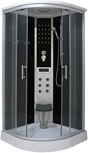 Bagno Italia Cabina de ducha hidromasaje 100 x 100 con sistema ...