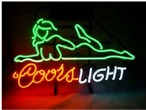 Coors Light Beautifui Girls neon sign store display beer bar sign Real Neon 19x15