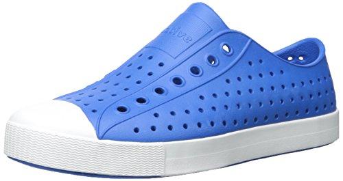 Nativ Unisex Jefferson Mode Sneaker Barracuda Blå / Shell Hvid BZlVyIN