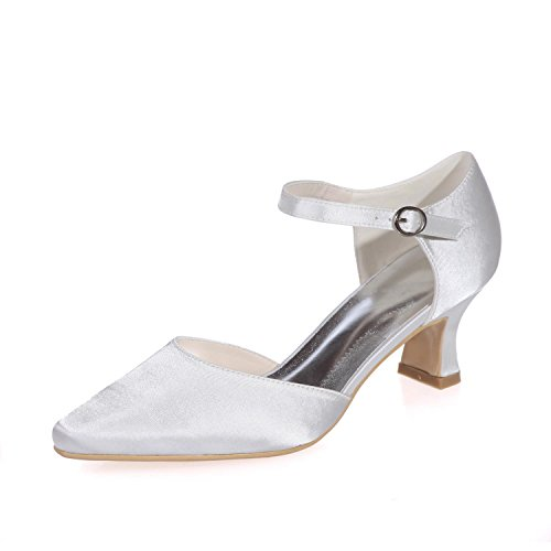 Custom YC Party Night amp; Pointed Women Heels High L Wedding Silk Multicolor White 1wHxgqgT