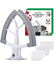 4.5-5 Quart Flex Edge Beater for KitchenAid Tilt-Head Stand Mixer-Flat Beater with Silicone Edges Flex Edge Bowl Scraper(Grey)