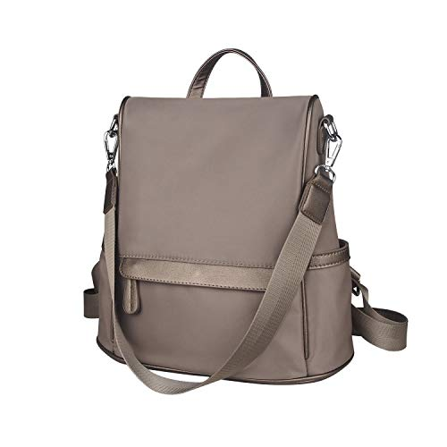 School ZZSY Anti theft Oxford Backpack Purse Rucksack Shoulder Bag Lightweight Khaki Women qq781