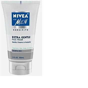 Nivea for Men Face Cleansing Face Wash, Extra Gentle for Sensitive Skin, 5 Fluid Ounces