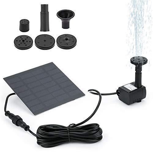 Winkeyes Solar Fountain Pump for Birdbath