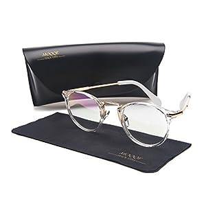 Eyewear Frames Eyeglasses Optical Frame Round Elegant Clear Lens Glasses For Women&Men(C3)