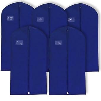 Hangerworld 10 Fundas de Ropa 102cm Porta Traje Transpirable Anti-Polilla Anti-Polvo Azul Marino