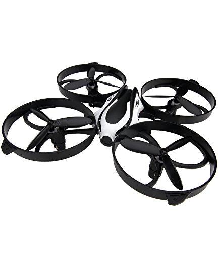 TOZO® Drohne RC Quadcopter Höhenhalte Headless RTF 3D 360 Grad Flips & Rolls 6-Achsen Gyro 4CH 2.4Ghz Fernbedienung Hubschrauber Höhe Halten Stetig Super Easy Fly für Training. Schwarz