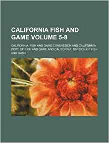 California fish and game volume 5 8 california fish and for Ca game and fish