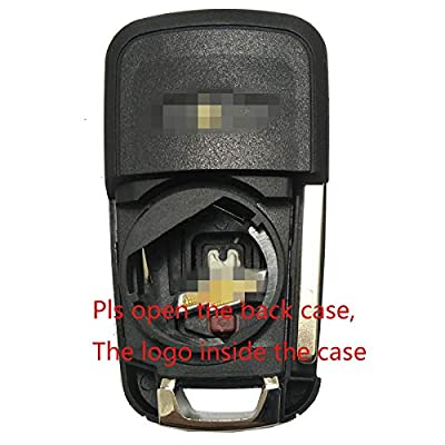 Replacement Keyless Entry Remote Control Key Fob Case Fit For GM Chevrolet Chevy Equinox Sonic Trax Terrain Folding Flip Key Fob Shell: Automotive
