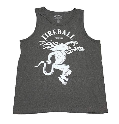 - Fireball Whisky Original Logo Tank Top (Medium, Charcoal)
