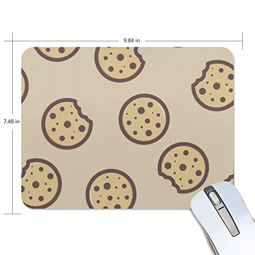 Fashion Retro Unique Custom Mousepad Cookies Food Dessert Delicious Design Printing Non-Slip Rectangle Natural Rubber Fabric Mouse Mat Gaming Mouse Pad