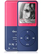 MP3-speler, Vorstik HiFi-muziekspeler, 4,6 cm digitale audiospeler met FM-radio/voicerecorder/video Afspelen/lezen van tekst, tot 90 uur speeltijd, 8 GB uitbreidbaar 128 GB TF