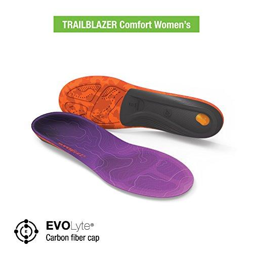 Foam Junior Boot - Superfeet TRAILBLAZER Women's Comfort Hiking Boot Insoles, Dahlia, B: 4.5-6 US Womens/2.5-4 US Juniors