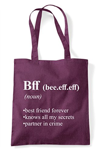 Funny Bff Dictionary Shopper Definition Tote Bag In Plum Alternative Not The gqxgw15rY