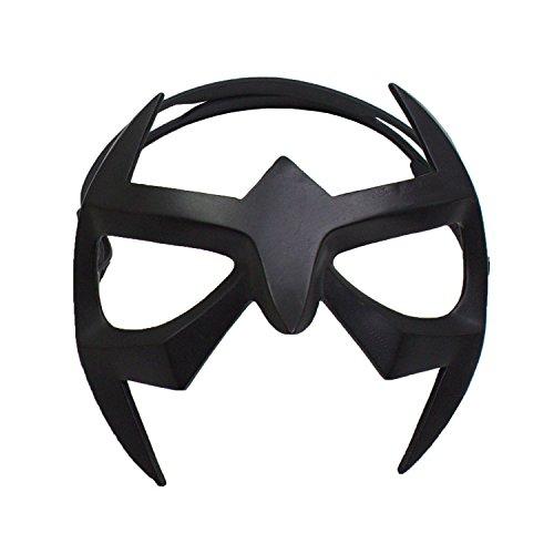 (Nightwing Mask Superhero Black Resin Eye Mask Strap Grayson Cosplay Masquerade)