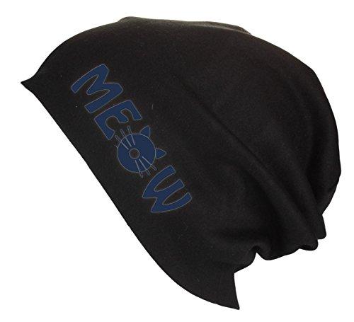 Jersey letras testa varios gato Gorro Beanie con en Azul colores de Meow Hombre verano de Mujer Gorro largo 5IZIwUCq