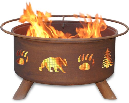 Patina Products F107,  30 Inch Bear & Trees Fire Pit