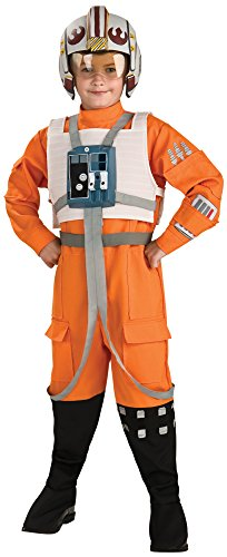 Rubies Star Wars Classic Child's Deluxe X-Wing Pilot Costume, Medium -