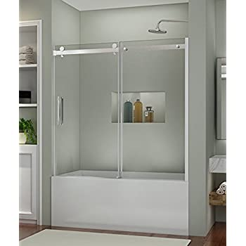 doors shdr glass dreamline tub x bathtub hinged clear aqua chrome door shower