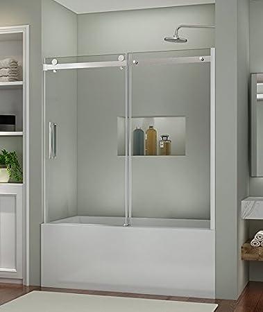 SUNNY SHOWER B038 New Frameless Sliding Bathtub Shower Door 516
