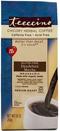 Photo of Teeccino Dandelion Mocha Caffeine-Free Herbal Coffee 11 Oz Bag