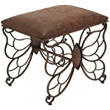 Benzara 54302 Metal Stool to Use The Small Space Purposely
