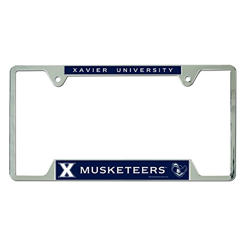 WinCraft NCAA Xavier University Metal License Plate Frame ()